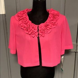 NWT Danny & Nicole Pink Floral Detail Capelet